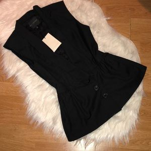 NWT MISS ME COUTURE BLACK VEST SIZE SMALL